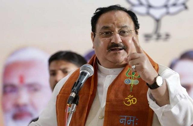nadda to attend state executive committee meeting in jaipur today