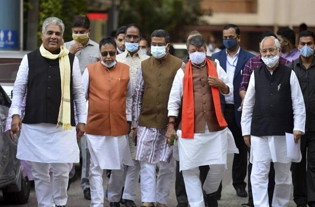 bjp leaders meet election commission
