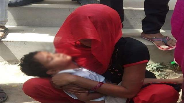 woman attempts suicide with son in bulandshahr