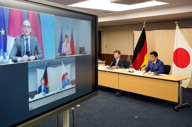 japan germany hold 1st security talk to deter china