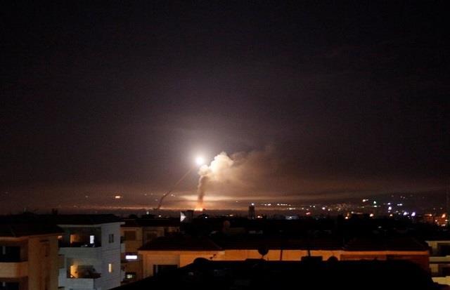 syria reports israeli missile attack near capital damascus