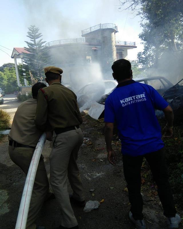 hardware store fire in chadi