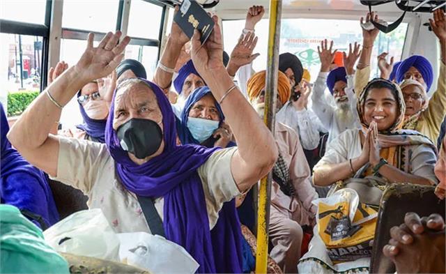 jatha comprising 815 pilgrims reaches pakistan for baisakhi