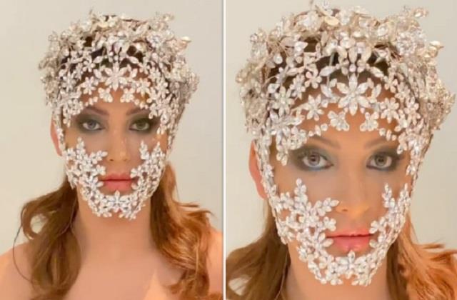 उर्वशी रौतेला ने पहना डायमंड मास्क, यूजर्स बोले- अब इसे कौन सा फैशन बोलते हैं