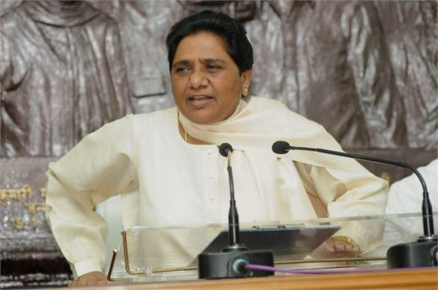 mayawati shows 3 leaders who are supporting rebel candidates
