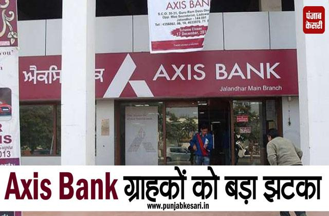 axis bank increases cash withdrawal and sms charge