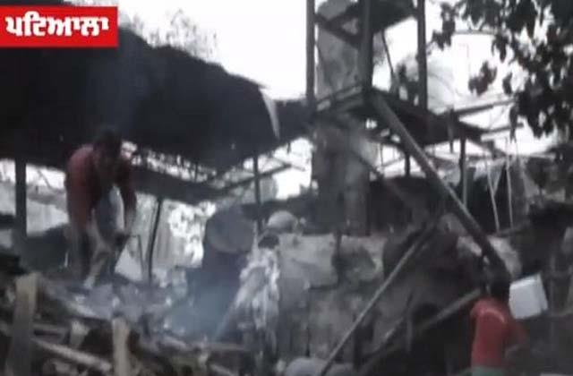 explosion in thermocol factory 2 laborers injured video