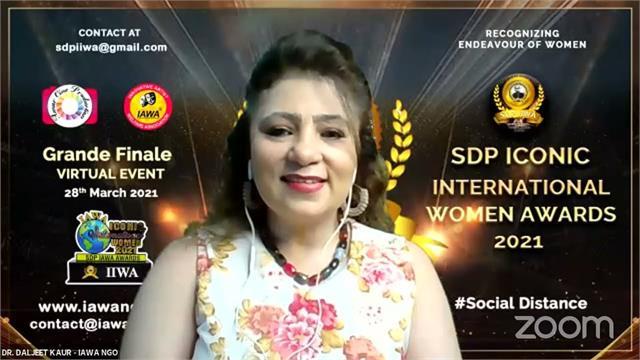 iawa organised sdp iconic international women award 2021