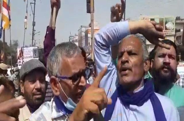protest against sukhbir in jalandhar