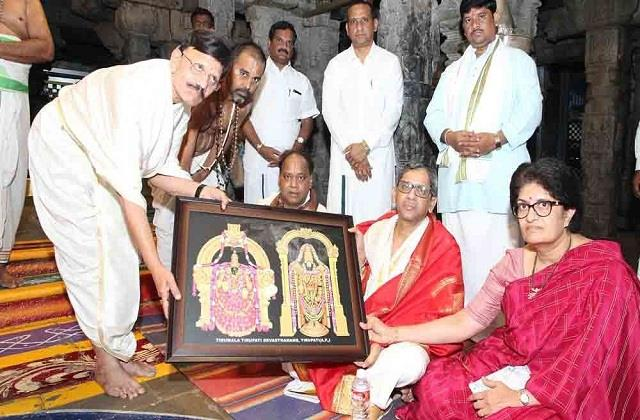 justice raman worshiped at venkateswara temple