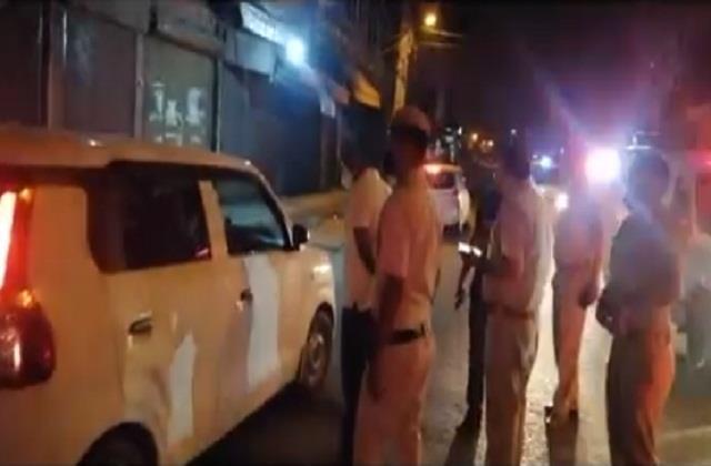 flag march police night curfew