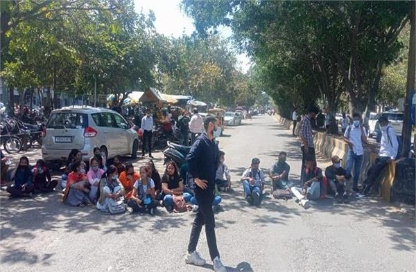 sc students protest against dc office jalandhar