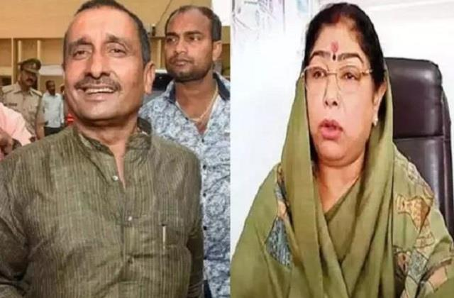 up panchayat election bjp cut candidate ticket of kuldeep sengars wife