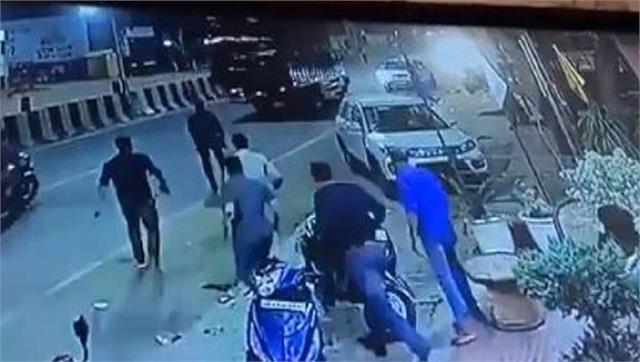 three policemen suspended for firing on bjp leader