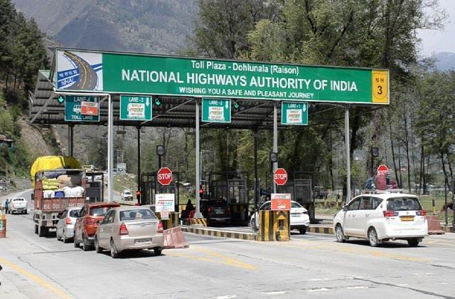 kullu chandigarh manali highway hiked toll tax by five to ten percent
