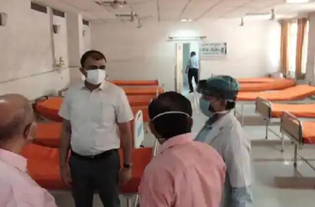 up saffron becomes  covid hospital  color on sheets