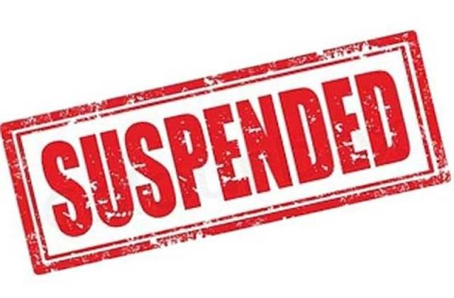 jamadar including two police officials suspended for taking bribe