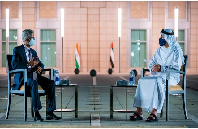 jaishankar discusses economic recovery post covid with uae counterpart