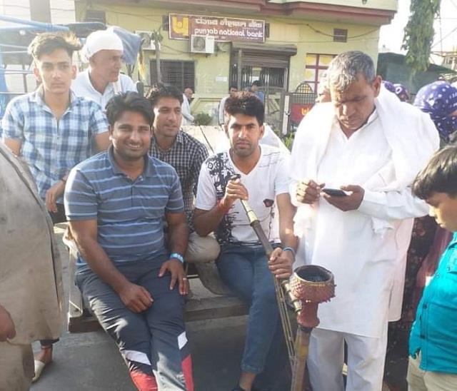 delhi chandigarh highway jam in kandela to protest against lathicharge