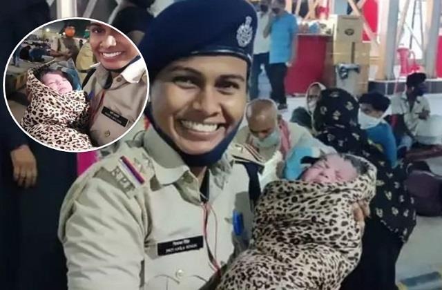 इस महिला पुलिस ने पेश की इंसानियत की मिसाल, मौत के मुंह से खींच ली नन्हीं बच्ची की जान