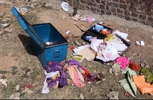 crores stolen at farmer s house in shivpuri