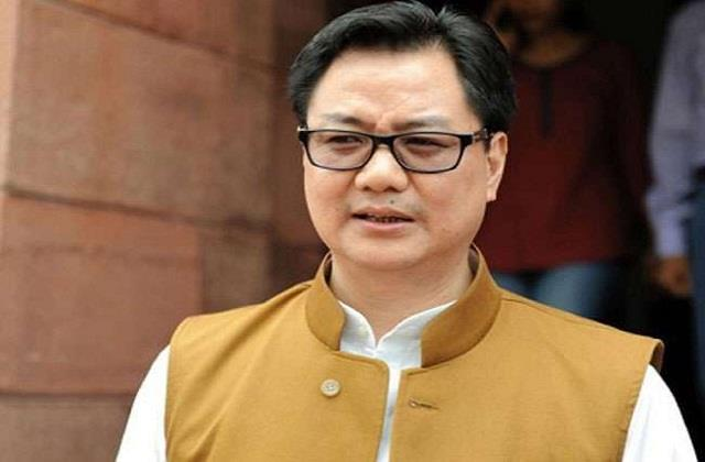 union sports minister kiren rijiju became corona positive tweeted information