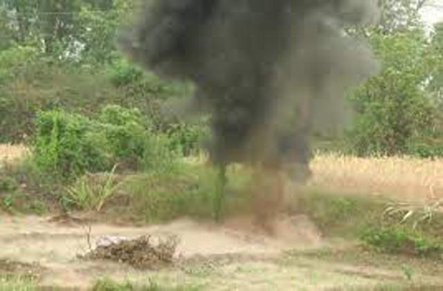 mine destroyed in samba