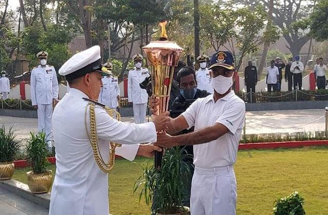 golden victory torch reaches jammu kashmir
