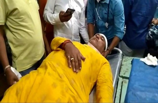 malda firing on bjp candidate gopal chandra saha hospitalized