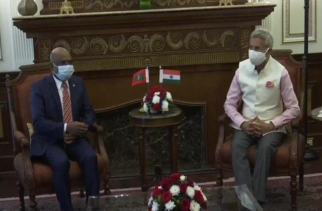 s jaishankar meets foreign minister of maldives discusses bilateral cooperation