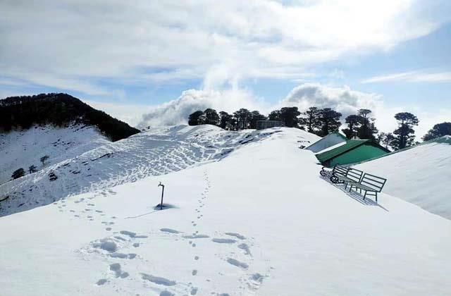 snowfall in shikari devi