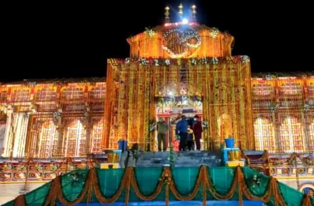 uttarakhand badrinath temple opening creremony