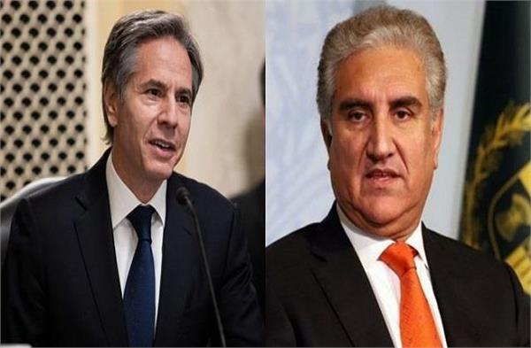 us secretary of state blinken pak foreign minister hold phone talk