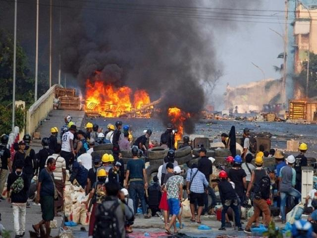 myanmar s civil war spreading from remote frontier areas to urban centres