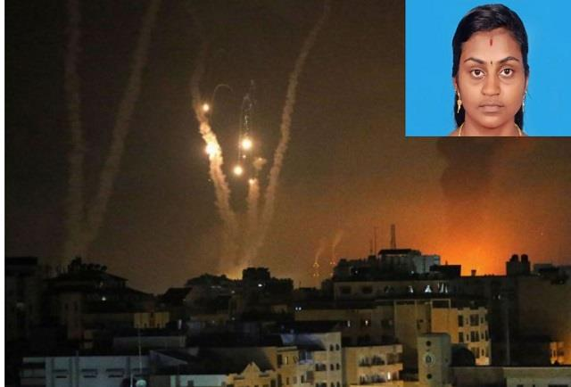 indian woman in israel killed in rocket attack by palestinian militants
