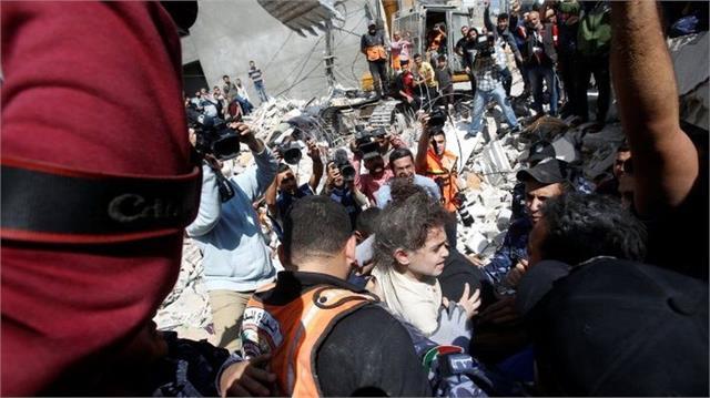 israel gaza conflict gazan officials say sunday was  deadliest day