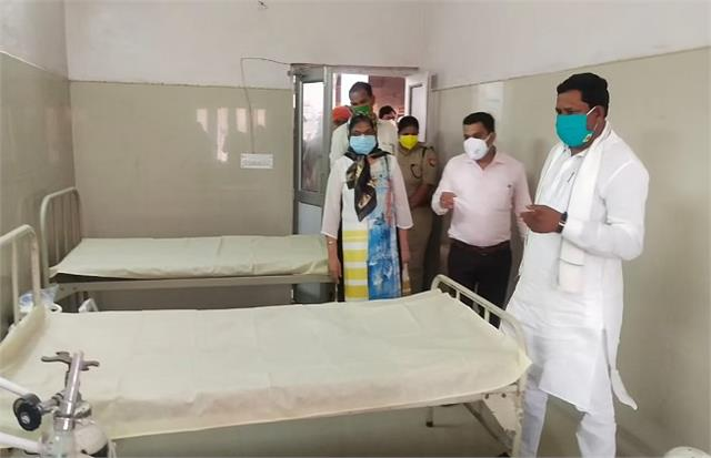 mp ramashankar katheria inaugurates 50 bed kovid facility