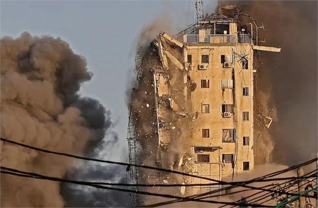 israel strikes gaza home of hamas leader destroys ap office