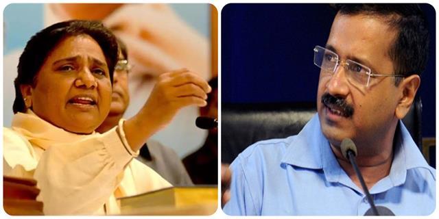 mayawati lashed out at kejriwal said  doing drama to hide his shortcomings