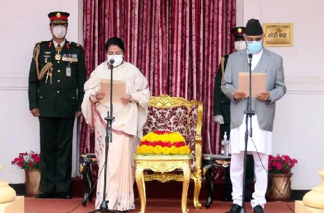 k p sharma oli sworn in as nepal pm for 3rd time