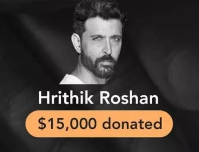कोरोना संकट में भारत की मदद के लिए ऋतिक रोशन ने किए 15,000 डॉलर डोनेट