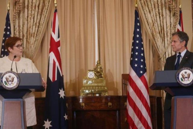 us will not leave australia alone against china  blinken