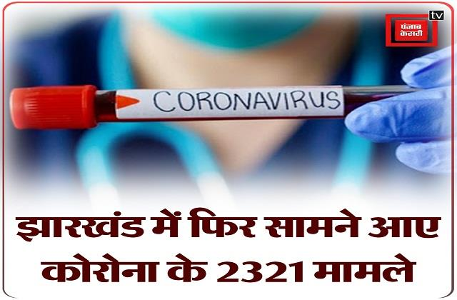 2321 corona cases surfaced again in jharkhand