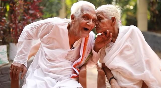 जन्मों का बंधन, पवित्र बंधन- 102 साल के पति ने अपनी 101 साल की पत्नी के साथ मनाई 84वीं सालगिरह