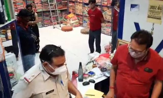 shops opened in lockdown as well police raided