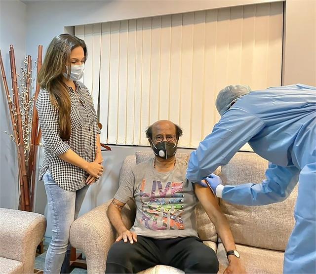 सुपरस्टार रजनीकांत ने लगवाया कोविड वैक्सीन का दूसरा डोज, बेटी सौंदर्या ने शेयर की फोटो