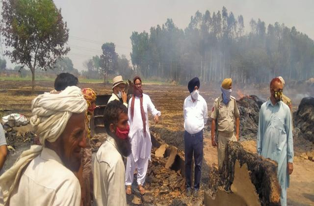fire gutted house of gujjars in samba