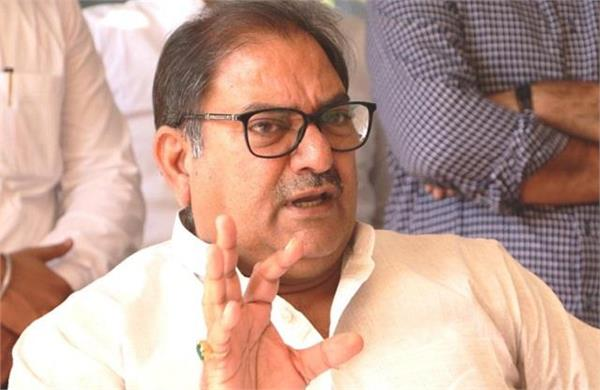 abhay said every third person unemployed in haryana