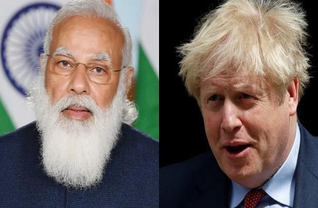 pm modi talks to uk prime minister boris johnson discusses corona