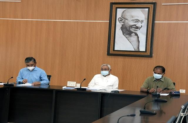 cm nitish spoke to the officials